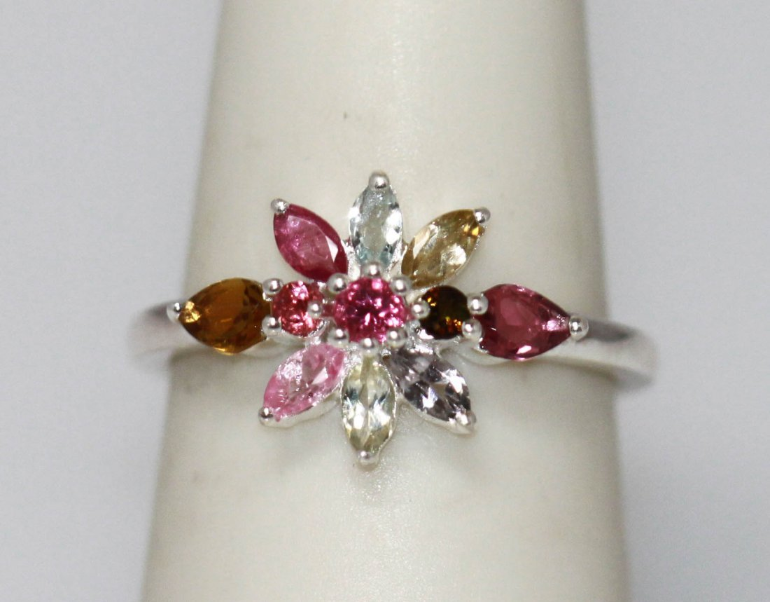 3.41 CTW SEMIPRECIOUS RING .925 STERLING SILVER