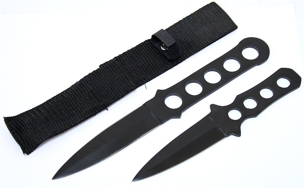 COLLECTORS EDITION SET OF 2 THROWING KNIVES W/SHEATH