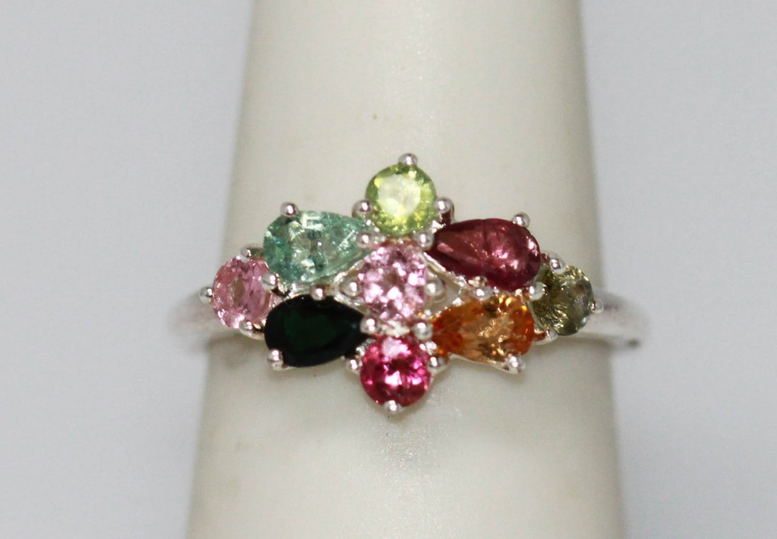 24.55 CTW SEMIPRECIOUS RING .925 STERLING SILVER