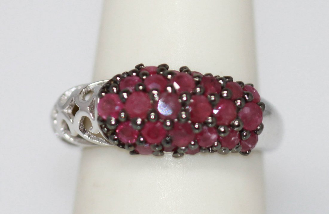 0.79 CTW Ruby Ring .925 Sterling Silver