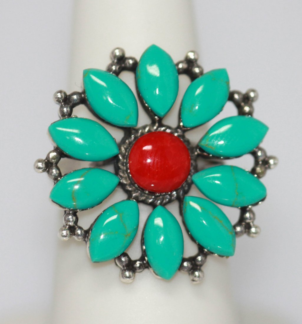 33.75 CTW SEMIPRECIOUS RING .925 STERLING SILVER