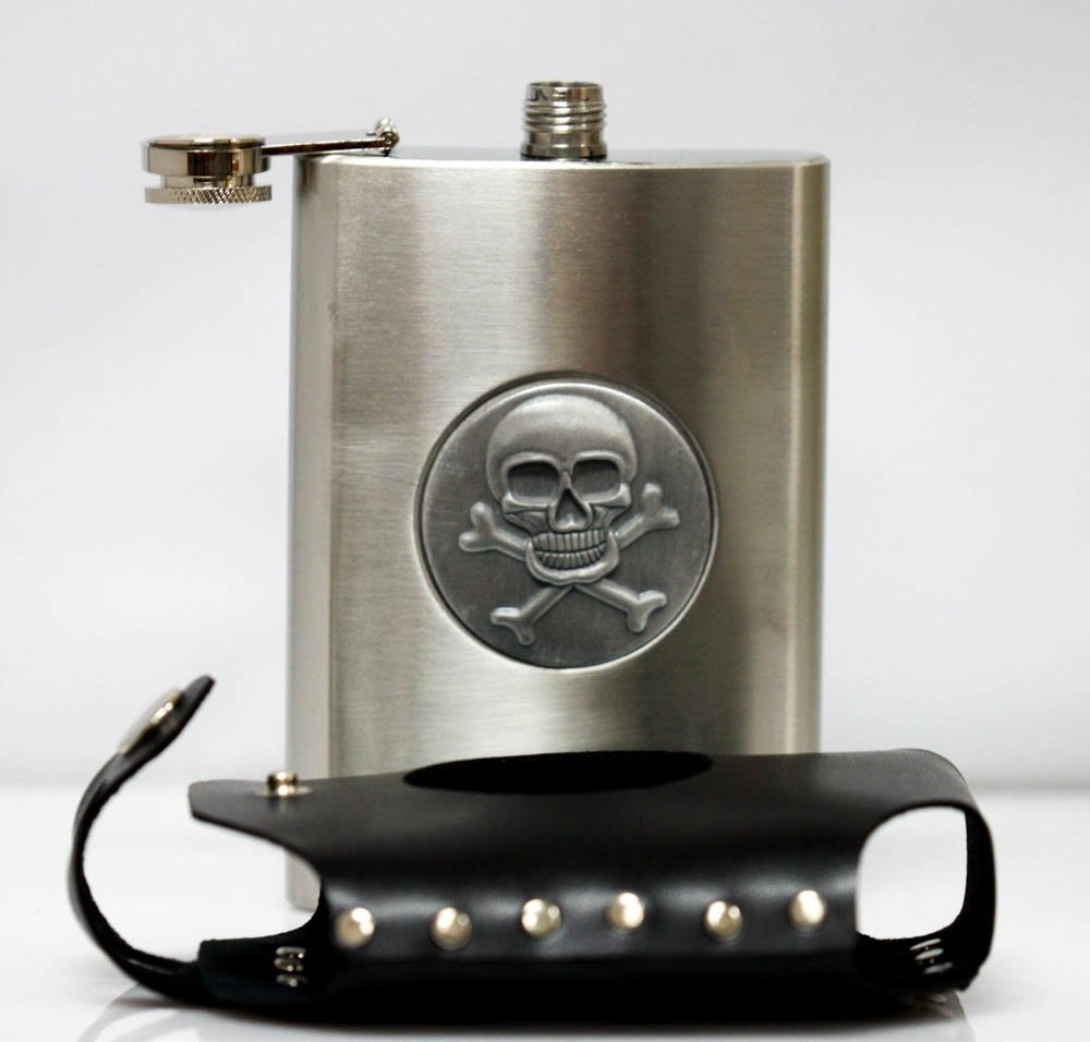 Collecible Stainless Steel With Skull & Genuine Lather - 3