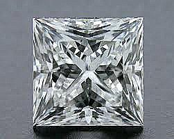 EGL CERT 0.52 CTW PRINCESS CUT DIAMOND D/SI2