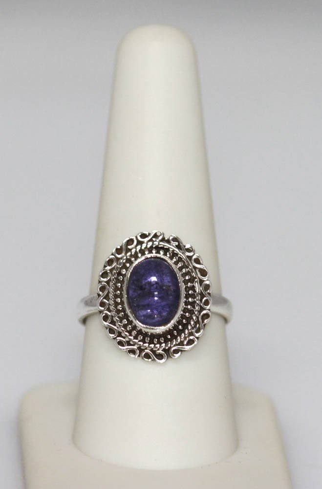 2.95 CTW Modern Style Tanzanite Oval Ring .925 Sterling