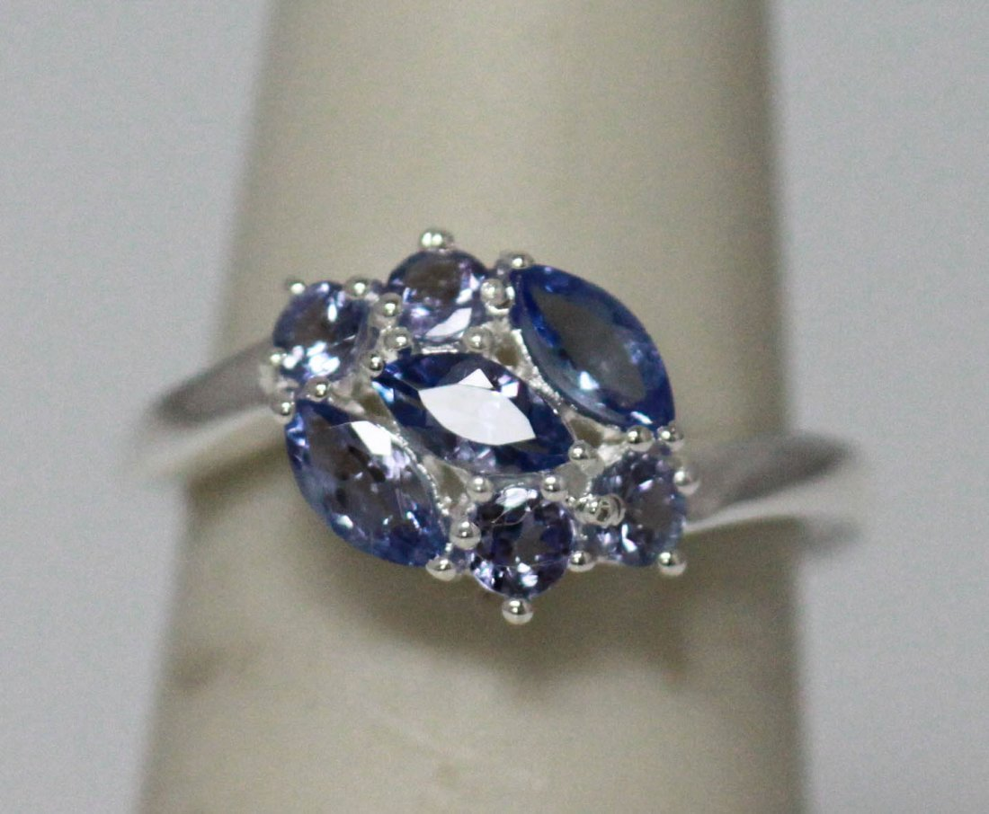 0.90 CTW TANZANITE RING .925 STERLING SILVER