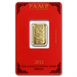 5 gram Pamp Suisse Year of the Dragon Gold Bar (In Assa