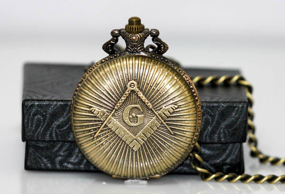 Collectors Edition Antique Masonic Symbol Brass Quartz