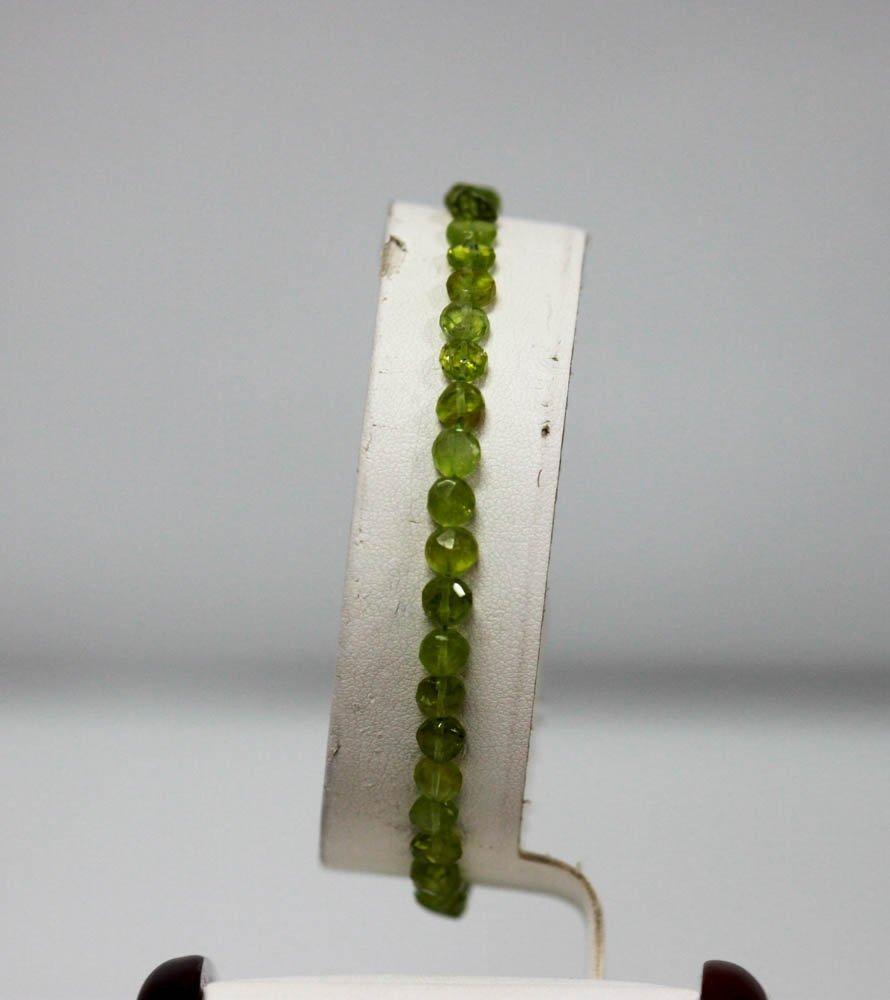 41.01 CTW Natural Peridot Bracelet W/Brass Clasp