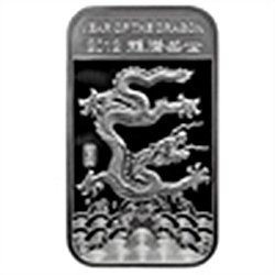 1 oz Year of the Dragon Silver Bar .999 Fine