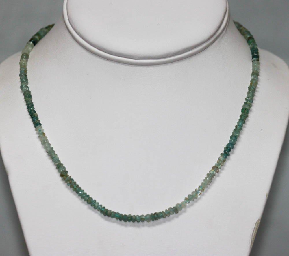 60.01 CTW Natural  Un-Cut Aquamarine Beaded Necklace