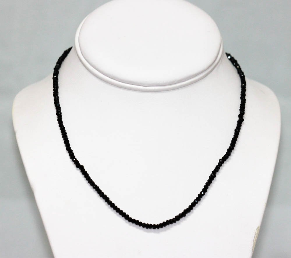 40.60 CTW Black Spinal  Necklace
