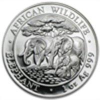 2013 1 oz Silver Somalian African Elephant