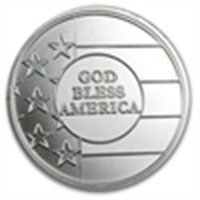 1 oz God Bless America Silver Round