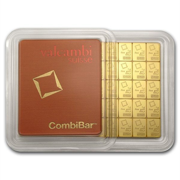 50x 1 gram Gold Valcambi CombiBar (In Assay)