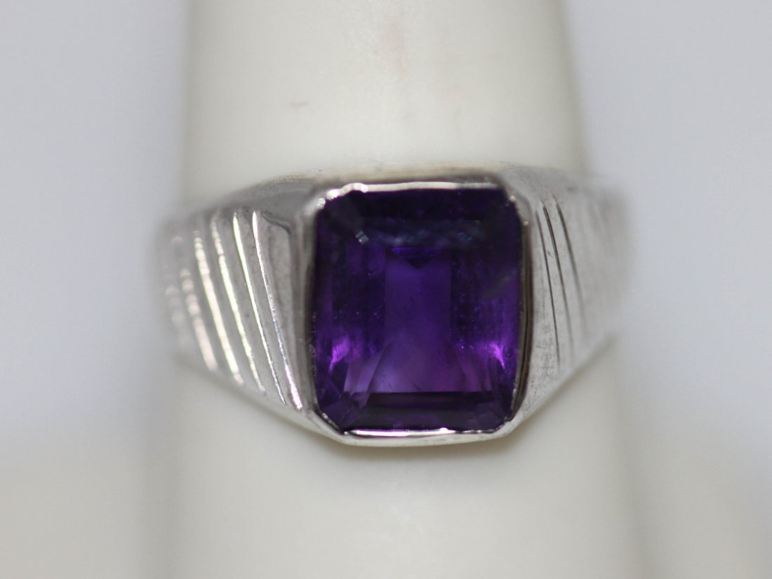 3.00 CTW AMETHYST RING .925 STERLING SILVER
