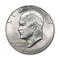 Eisenhower Dollar Silver BU