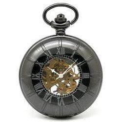 Collectors Edition Black Mechanical Pocket Watch