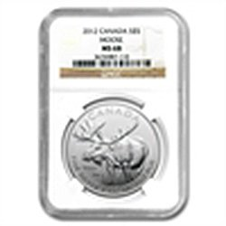 2012 1 oz Silver Canadian Wildlife Series - Moose MS-68
