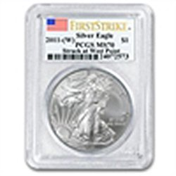 2011 (W) Silver Eagle - MS-70 PCGS - First Strike - WP