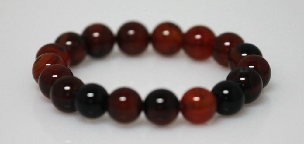 STYLISH STRETCHY DARK MUTI-COLOR JADE BRACELET