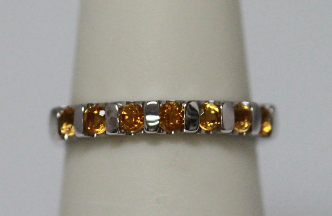 0.79 CTW CITRINE RING .925 STERLING SILVER