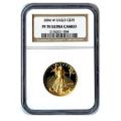 Certified Proof American Gold Eagle $25 2004 PF70 NGC