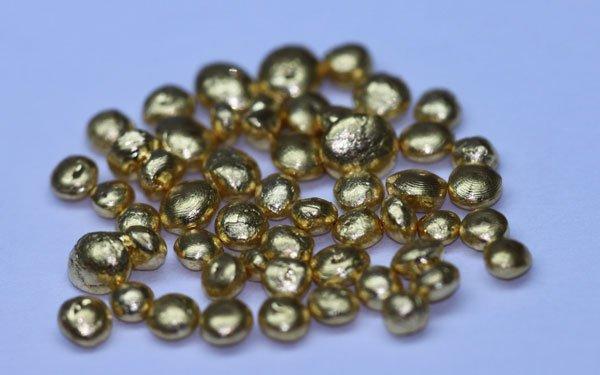60 GRAMS PURE 24K GOLD SHOTS