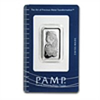10 gram Pamp Suisse Silver Bar - Fortuna (In Assay) .99