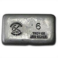 6 oz Prospector's Gold & Gems Silver Bar .999 Fine