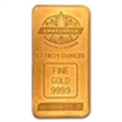 10 oz Engelhard Gold Bar (Tall, Maple / Smooth, Sealed)