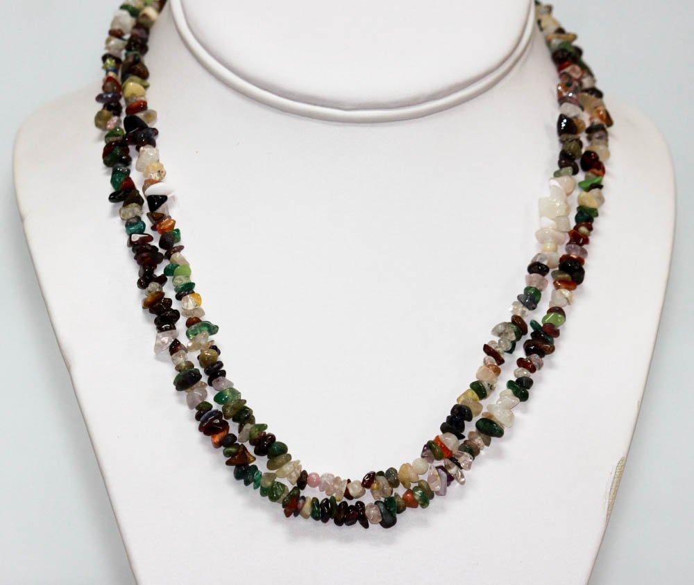 300.01 CTW Multi Semi Precious Stone Necklace