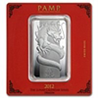 100 gram Pamp Suisse Silver Bar - Year of the Dragon (I