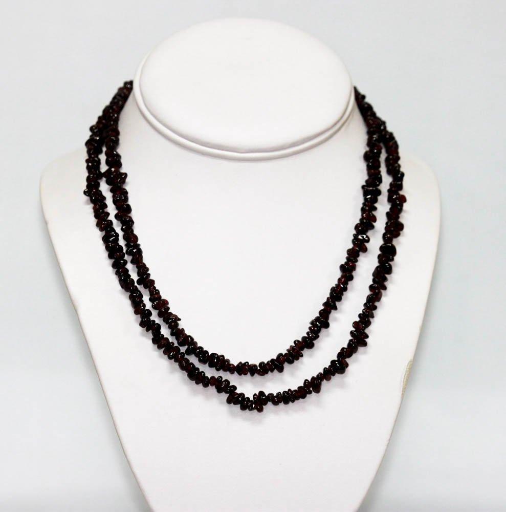 270.01 CTW Natural Un-cut Beaded Garnet Necklace