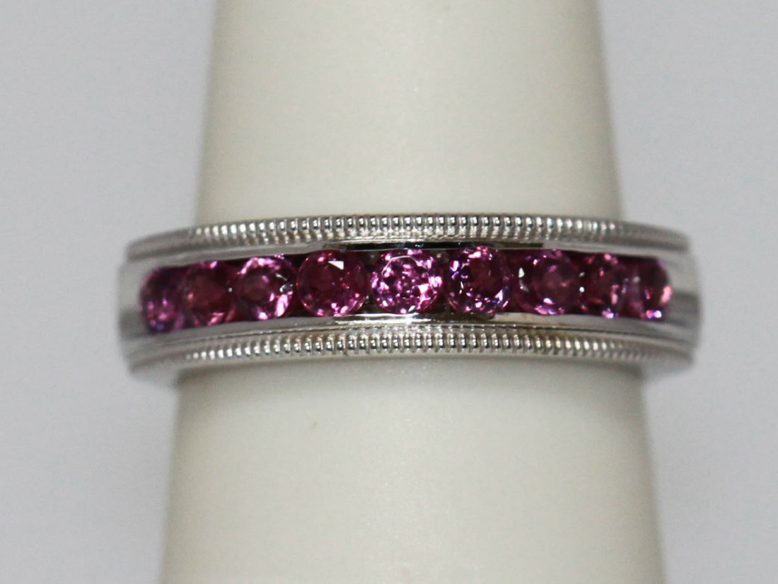 0.60 CTW PINK TOURMALINE RING .925 STERLING SILVER