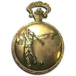 Collectors Edition Antique Style Golf Pocket Watch