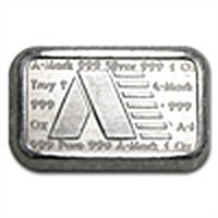 1 oz A-Mark (Brick) Silver Bar .999 Fine