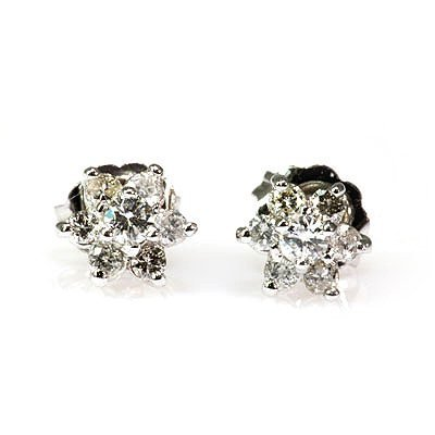 Genuine Diamond 0.56Ctw Diamond Earring 14K