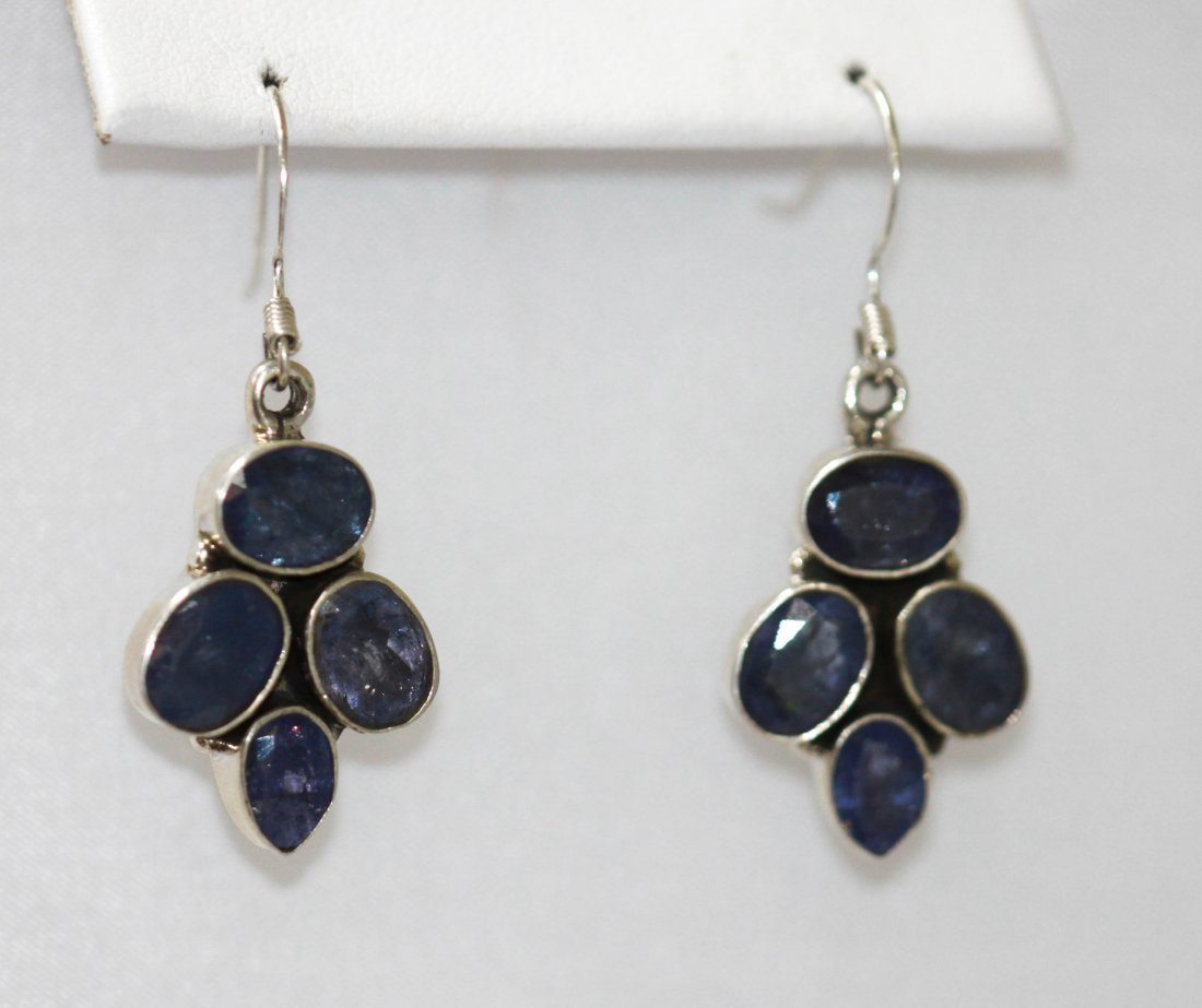 7.30 CTW Natural Tanzanite .925 Earrings Sterling Silve