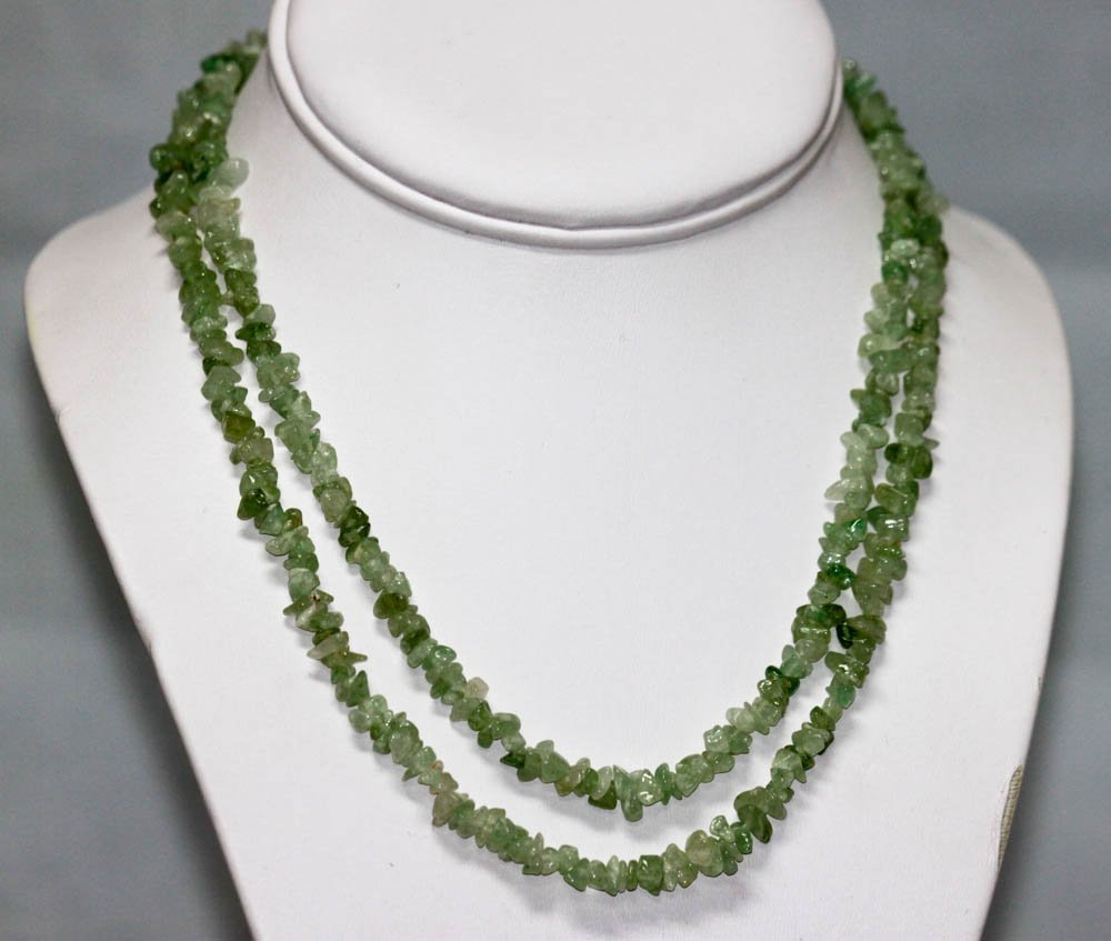 170.01 CTW NATURAL UN-CUT Aquamarine Bead Necklace