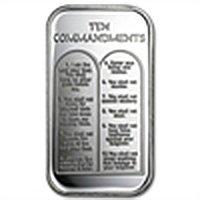 1 oz Ten Commandments Silver Bar