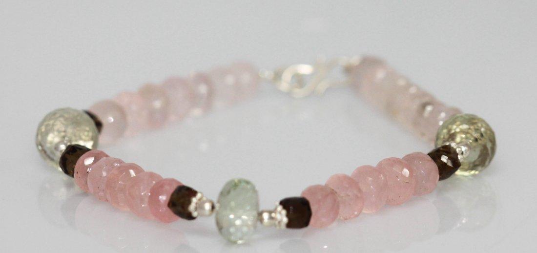 Natural 120.95 ctw Pink Topaz/Semiprecious Bracelet .92
