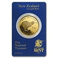 1 oz New Zealand Gold .9999 Kiwi (In Blue Assay Card)