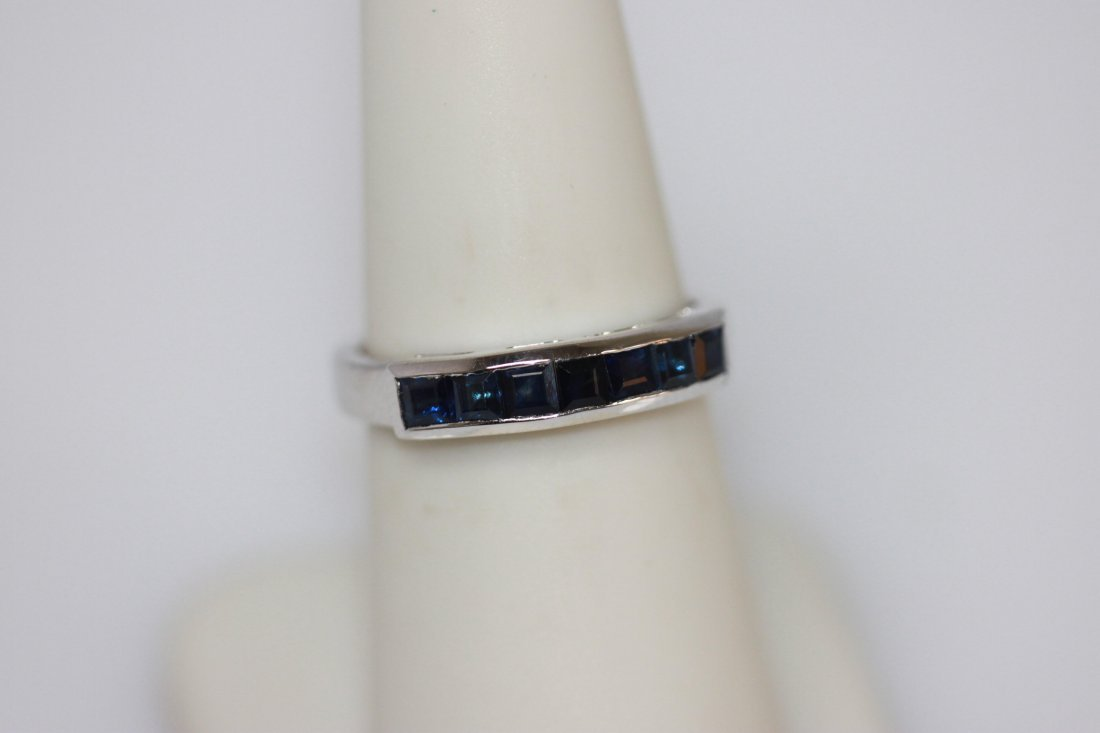 NATURAL 1.05 CTW SAPPHIRE RING .925 STERLING SILVER