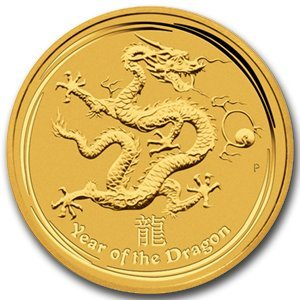 2012 1/2 oz Gold Lunar Year of the Dragon (Series 2)