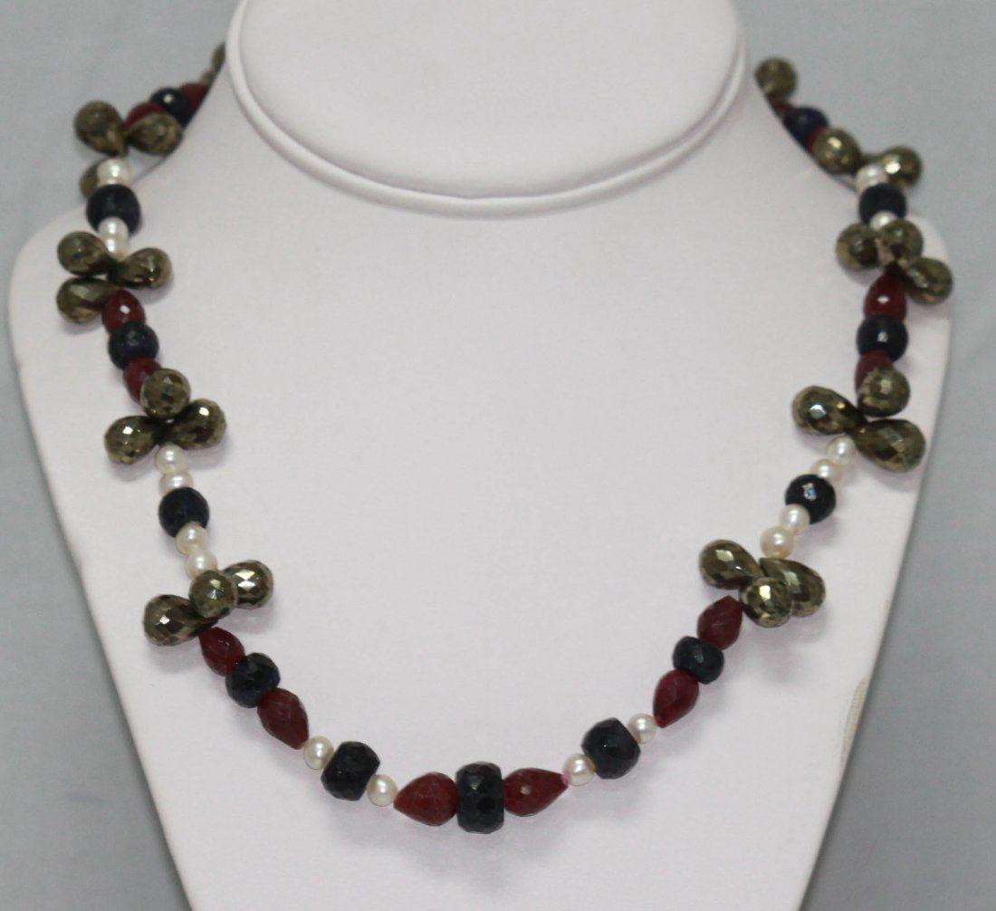 448.50 CTW Natural Pearl, Sapphire, Ruby, Semi Precious