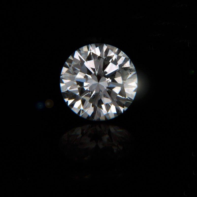 GIA CERT 0.36 CTW ROUND DIAMOND D/SI1