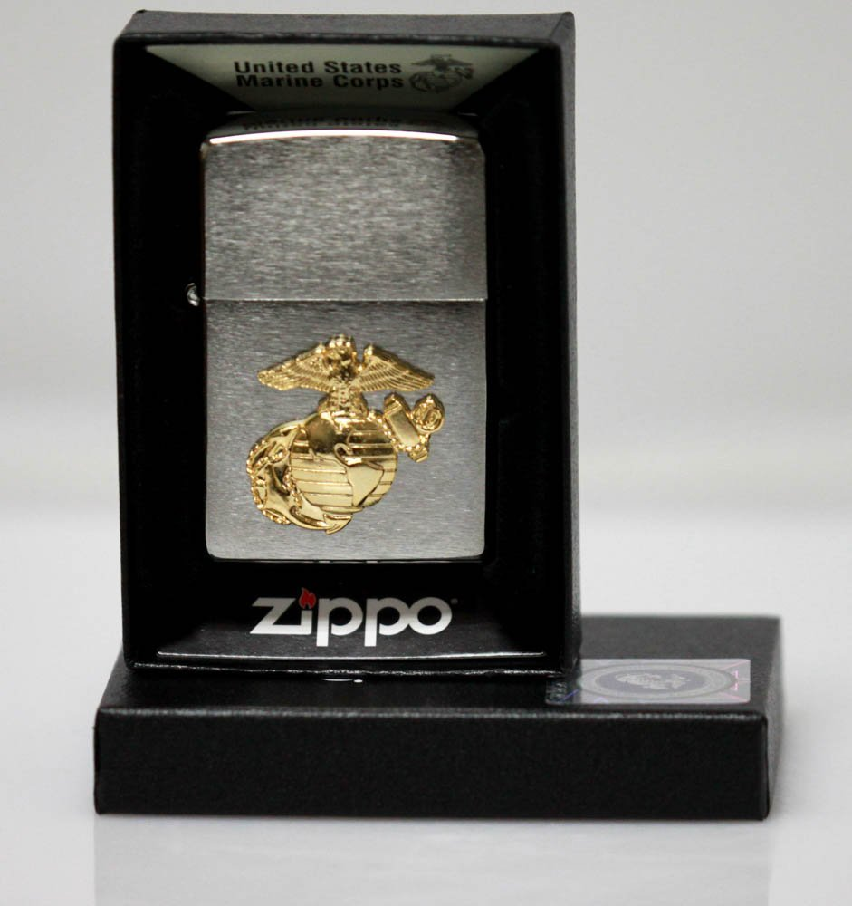GENUINE ZIPPO LIGHTER UNITED STATES MARINE CORPS EMBLEM