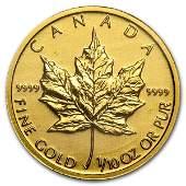 1/10 oz Gold Canadian Maple Leaf - Random Year