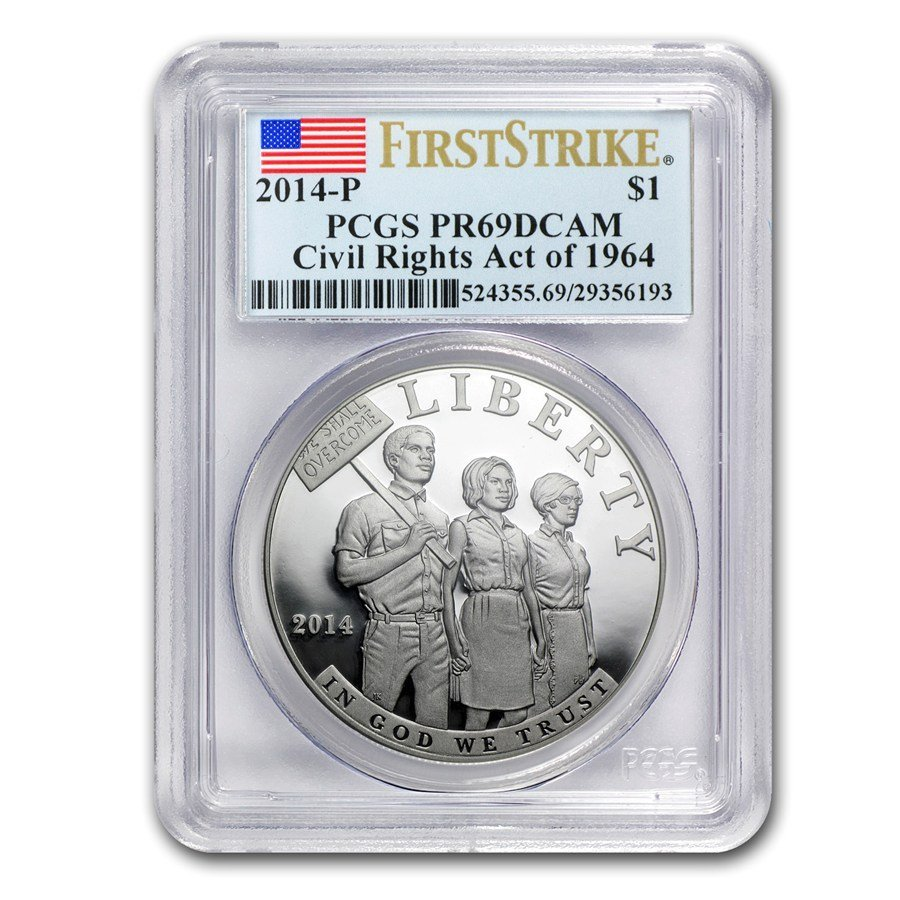 2014-P Civil Rights of 1964 $1 Silver Commem PR-69 DCAM
