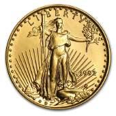 1992 1/10 oz Gold American Eagle BU